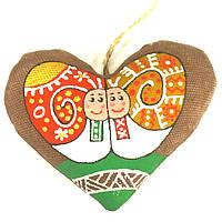 Валентинка расписная с улитками
