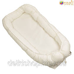 Гніздо для немовлят ТМ «Omali» біле однотонне