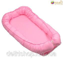 Гніздо для немовлят ТМ «Omali» рожеве однотонне