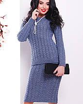 Женский вязаный костюм джемпер и юбка (136 mrs), фото 3