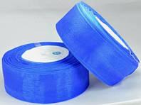 Лента органза 3,8см синяя от 2 шт