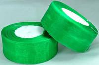 Лента органза 3,8см зеленая от 2 шт
