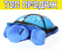 Черепаха-проектор звездного неба музыкальная синяя