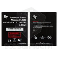 Батарея аккумуляторная BL3216 для мобильного телефона Fly IQ4414 Quad, original, (Li-ion 3.7V 1700mAh)