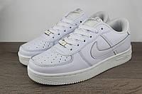 Кроссовки белые кожаные