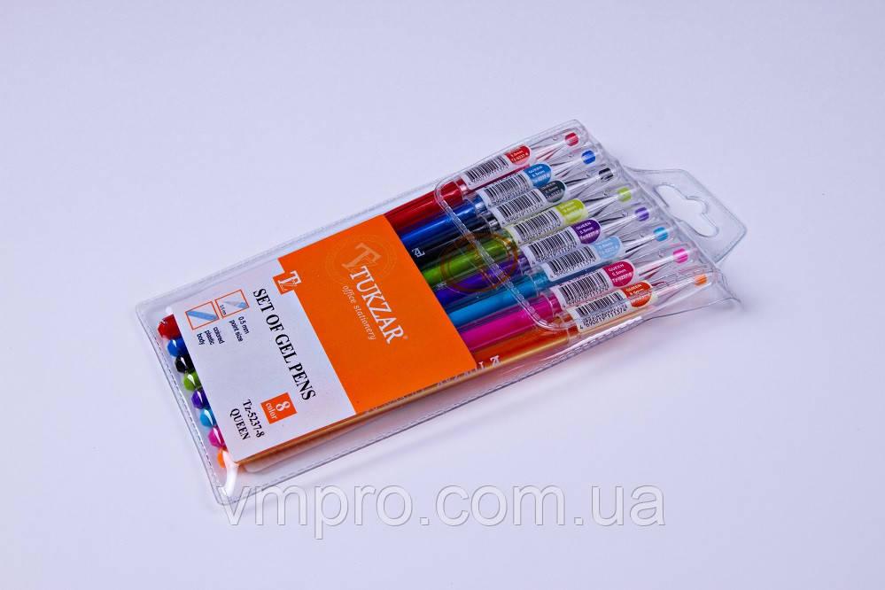 Набор гелевых ручек Tukzar TZ-5237-8,0.5 mm,разные цвета 8 шт/упаковка