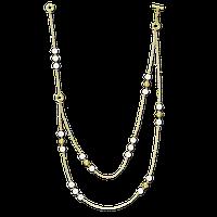 Ожерелье из белого жемчуга с золотыми бусинами 46 cm