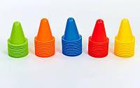 Фишка спорт, Конус разметочный для роликов 8 см С-4348 пластик