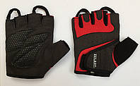 Жіночі рукавички для фітнесу чорно-червоні