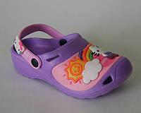 Обувь детская пляжная Шалунишка арт.LW007 сирень Китти р.24-29