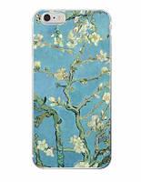 Силиконовый чехол для Iphone 4/ 4S с картинкой цветение миндаля