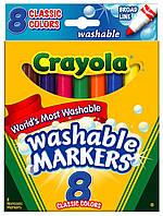 Набор для творчества Crayola 8 тонких смывающихся фломастеров