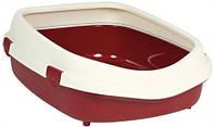 40285 TRIXIE Туалет для кошек Примо XL с рамкой 56х25х71 см бордовый/кремовый