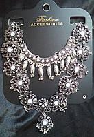 Колье макси в стиле Бохо. Ожерелье под старинное серебро