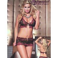 Комплект черно-розовый #946
