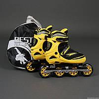 """.Ролики 6014 """"L""""  - Best Rollers /размер 39-42/ (6) колёса PU, без света, d=9см"""