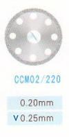 CCM02/220/0.25 диски алм.двухст.