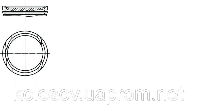 Поршни VW Bora (Golf) 1.6 бенз. д.76,5мм.