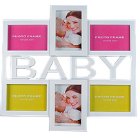 Детская мультирамка на 6 фото с надписью Baby