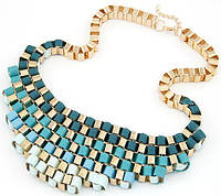 Ожерелье воротник (tb463), цвет бирюза