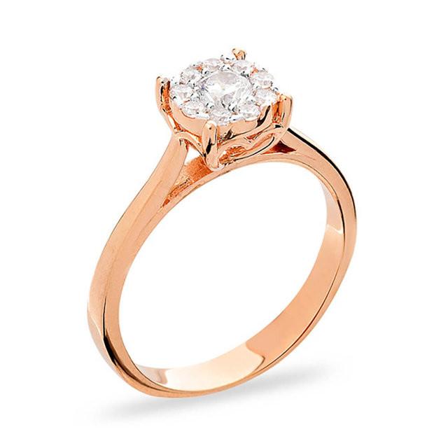 Золотое кольцо с фианитом 2.64, 17