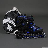 """Ролики 6006 """"L""""  - Best Rollers /размер 39-42/ (6) колёса PU, без света, d=7.6см , фото 1"""