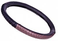 Оплетка руля кожзам S Vitol  17000S/080222 черный