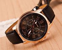 Наручные женские часы черного цвета Geneva