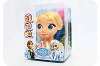 Кукла для причесок «Холодное сердце. Эльза» (Краска для волос, помада, карандаш) ZT 8828