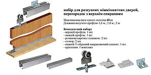 Раздвижная система min 40-max 60 кг полотно 1,6м направляющая