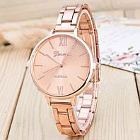 Женские часы браслет розовое золото