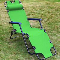 Кресло шезлонг для отдыха на даче Welfull green