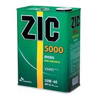 Моторное масло ZIC 5000 10W-40, 4л.