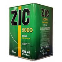 Моторное масло ZIC 5000 10W-40, 6л.
