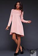 Асимметричное платье  фиолетовое, розовое, пудра