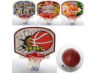 Баскетбольное кольцо с мячем