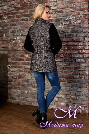 Короткое женское черно-серое пальто  (р. S, M, L) арт. Старк крупное букле 9048, фото 2