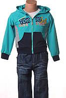 Костюм для мальчика 2-5лет (джинсы, реглан, кофта), фото 1