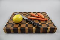 Кухонная торцевая разделочная доска 3D 40х30х3,5 см 0400