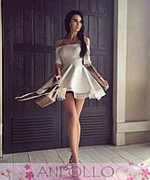 Платье-колокольчик, креп-стрейч+подкладка шифон