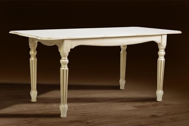 Розкладний Стіл Венеція 140см (слонова кістка)