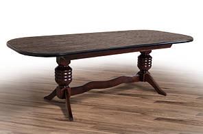 """Розкладний великий стіл """"Гетьман"""" (горіх) 200*100см"""