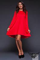 Асимметричное платье  красное, бирюзовое