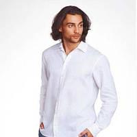 Рубашка классика льняная натуральная, полномерного большого размера для полных мужчин и женщин 56-68р, фото 1