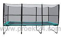 Прямоугольный батут KIDIGO 457х305см с защитной сеткой, лестница