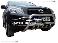 Кенгурятник для Toyota Rav4 с логотипом