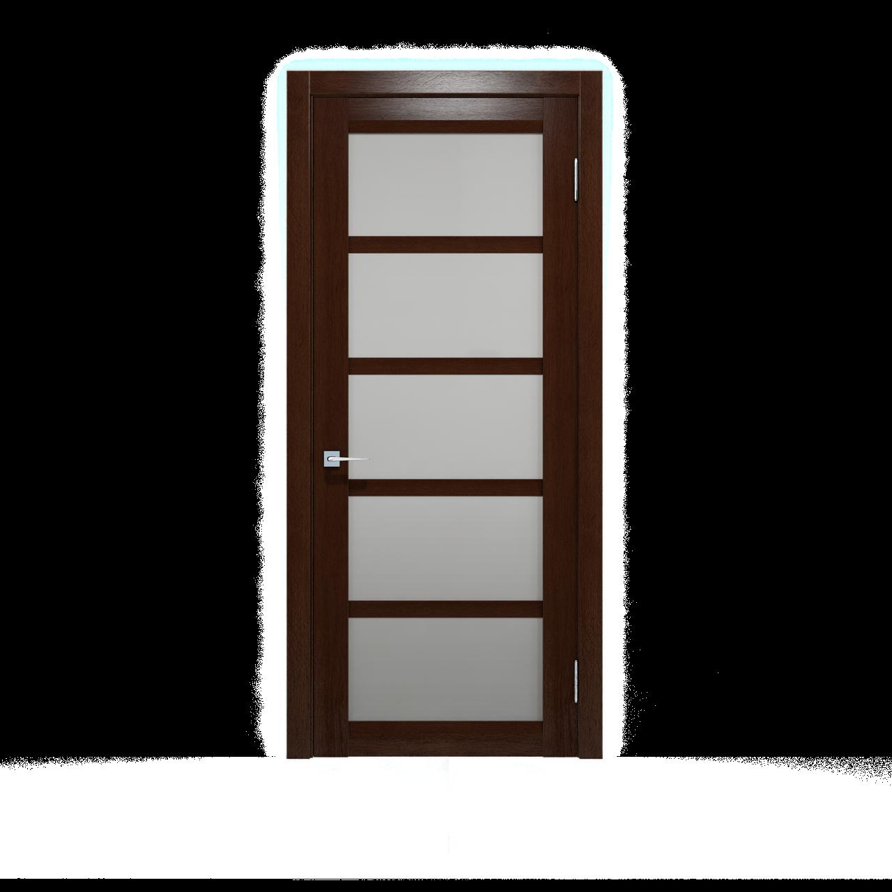 """Двери межкомнатные Дукат бруно со стеклом """"сатин белый"""" Шпон дубовый"""