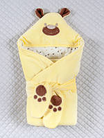 """Конверт-одеяло для новорожденного """" Мишка-лапки"""""""