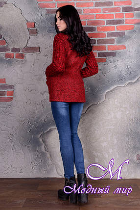 Коротке червоне пальто жіноче (р. S, M, L) арт. Старк велике букле 9051, фото 2
