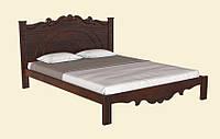 Классическая двуспальная деревянная кровать, с резным изголовьем. Модель Л-224, производства фабрики Скиф